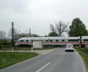 Ehemaliger Bahnübergang Strecke Nürnberg-Bamberg bei Kersbach