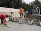 Brückeninstandsetzung; Betonieren Überbauplatte
